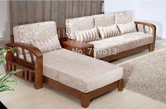 Wooden Sofa Designs, Wooden Sofa Set, Sofa Set Designs, Wood Sofa, Diy Furniture Couch, Home Decor Furniture, Luxury Furniture, Furniture Design, Living Room Sofa Design