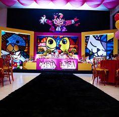 foto 3 (1) Pop Art, 1, Baby Shower, Splash Of Color, Mariana, Creativity, Party, Vestidos, Romero Britto