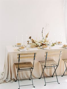 Perfect neutral wedding choice for a reception table.
