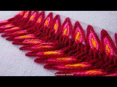 Hand Embroidery Stitch Cross Stitches Border line Design part 2 Basic ha. Border Embroidery, Blackwork Embroidery, Hand Embroidery Videos, Hand Embroidery Flowers, Hand Embroidery Tutorial, Learn Embroidery, Hand Embroidery Stitches, Hand Embroidery Designs, Machine Embroidery