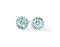 Les boucles d'oreilles BOUTONS DE FLEUR, par Pellegrin & Fils.  #luxury #diamond #jewelry