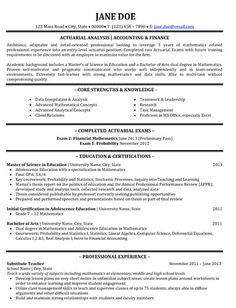 Click Here to Download this Actuarial Analyst Resume Template! http://www.resumetemplates101.com/Accounting-resume-templates/Template-427/