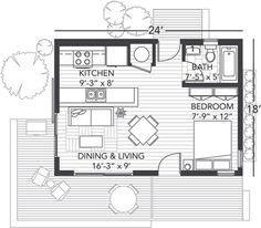 Best 39 Best Studio Floorplans Images Tiny House Plans 400 x 300