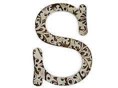 Chipboard letter S, 4 inch embossed letter, baby shower decor, paper accents, wall decor, table decor, wedding decoration, custom sayings #holidaygifts #boebot