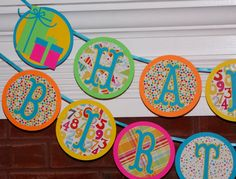Presents Happy Birthday Party Banner  BRiGHtS by APaperPlayground, $24.50