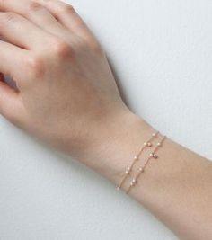 Catbird::shop by category::JEWELRY::Bracelets::Dewdrop Bracelet, yellow gold