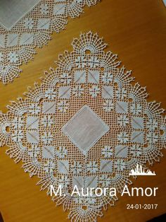 M. Aurora Amor Tunisian Crochet Patterns, Bobbin Lace, Aurora, Lace Trim, Holiday Decor, Bobbin Lace Patterns, Hand Embroidery, Mesh, Tulle