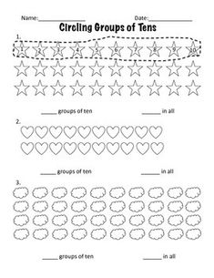Worksheets Making Groups Of 10 Worksheets first grade math unit 9 place value count and i created these worksheets while teaching a on provide great