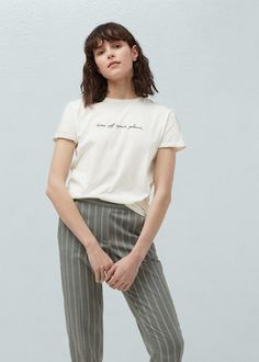 T-shirt coton message -  Femme | OUTLET France