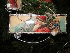 Soldered microscope slide ornaments