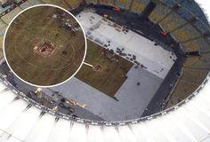 Buraco no gramado do Maracanã surpreende; Campo fica pronto dia 16 #globoesporte