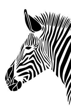 Zebra Kunst, Zebra Art, Zebra Painting, Animal Stencil, Stencil Art, Zebras, Motifs Animal, Cheap Paintings, Silhouette Art