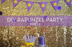 Our Daughter's DIY Rapunzel Princess Party Rapunzel Birthday Party, Tangled Party, Tinkerbell Party, Disney Princess Party, 3rd Birthday Parties, Princess Birthday, Birthday Ideas, Birthday Party Centerpieces, Party Favors