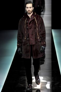 0d551bda0f930 Giorgio Armani | Fall 2013 Menswear Collection | Style.com Shearling Jacket,  Coats 2013