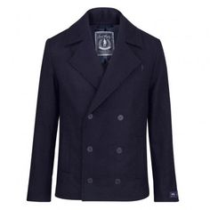 DALE Wool Pea Coat - Navy