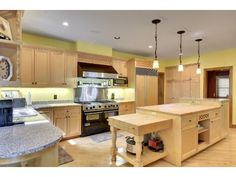 Dream kitchens on pinterest homes for sales granite for High end appliances for sale