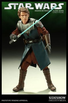 Figura Star Wars. Anakin Clone Wars, 30 cms. Sideshow Collectibles