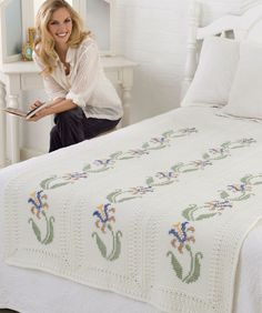 Elegant Floral Throw