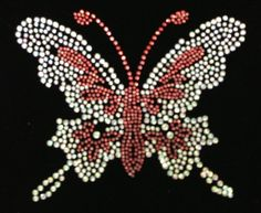 Rhinestone Transfer Butterfly Iron On Hot Fix Heat Transfer Motif Bling Appliqu? - DIY
