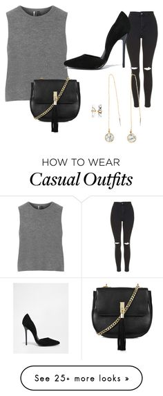 """Chic n Casual"" by joyceyli on Polyvore featuring Topshop, Steve Madden and H&M"