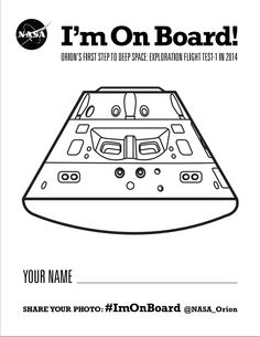 #NASA  #ImOnBoard - students can color and share their own Orion! @NASA_Orion