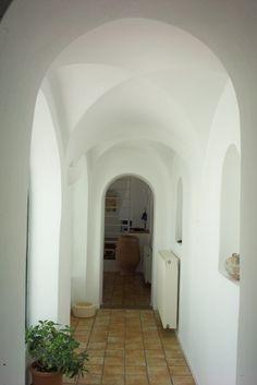 White Dome Tiles Sofas Loft LivingRoom Blue Island Santorini Living