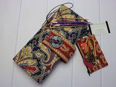 Kitting Needle Case - Circular Needle Case - Needle Storage - Knitting Supplies - Moda Fabrics - Polka Dots and Paisleys - Knitting Gifts by TalfourdJones on Etsy