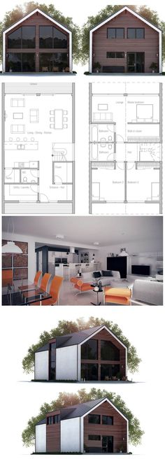 Small House Designs, Small Home Plans, - Modern Unique Floor Plans, Small Floor Plans, Modern House Plans, Small House Plans, Unique House Plans, Affordable House Plans, Small House Design, Small House Layout, Facade House