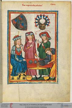 Cod. Pal. germ. 848: Große Heidelberger Liederhandschrift (Codex Manesse) (Zürich, ca. 1300 bis ca. 1340), Fol 305r
