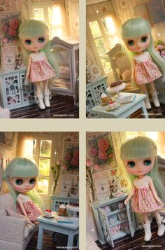 ROSE CLASSIQUE ooak miniature dollhouse diorama Room