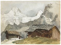 John Singer Sargent (American, 1856–1925). Chalets, Breithorn, Mürren, 1870. The Metropolitan Museum of Art, New York. Gift of Mrs. Francis Ormond, 1950 (50.130.82b recto)