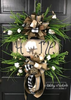 Our Cotton & Berry Wreath features a grass assortment, cotton, gorgeous berries and a large bow. What a great wreath for indoors or your outside doors! Built on a 18 round grapevine wreath Country Wreaths, Holiday Wreaths, Christmas Decorations, Winter Wreaths, Fall Door Hangers, Diy Wreath, Grapevine Wreath, Wreath Fall, Wreath Ideas
