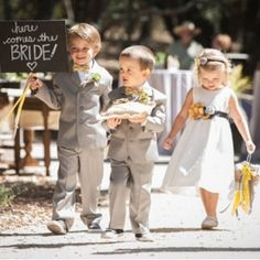 A simple, rustic grey and yellow wedding with lovely details.