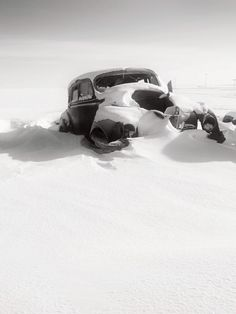 Exit Of The Soul is a photograph by Wayne Stadler. An old car sits quietly through another harsh Canadian winter, abandoned and cold. Source fineartamerica.com