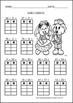 Pedagogas da paz: Continhas de Adição 2º ano - Festa Junina Math Addition Worksheets, 2nd Grade Worksheets, Subtraction Worksheets, Alphabet Worksheets, Preschool Worksheets, Math 2, Kindergarten Math, Teaching Math, Math Charts