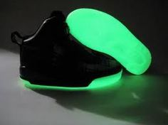 Glow in the dark shoes! Perfect for my nephew
