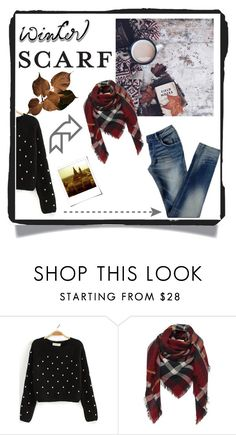 """winter scarf"" by gina-is-in-style ❤ liked on Polyvore featuring Polaroid"