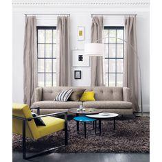 "La sala soñada ""avec tweed sofa in sofas Living Area, Living Spaces, Living Room, Grey Shag Rug, Shaggy Rug, Arc Floor Lamps, Arc Lamp, Boconcept, Modern Sofa"