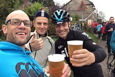 Team Sky boss Sir David Brailsford joined in with spectators at the 2017 Monsal Hill Climb on Sunday