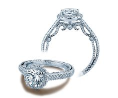 INSIGNIA-7061R engagement ring from the Insignia Collection, featuring 0.40Ct. of round brilliant diamonds to enhance a round diamond center.    Available in Platinum and Gold.  Starting Price: $3,250