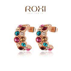 Dom ROXI Natal Imitar genuínos cristais austríacos brincos, presente para namorada é bonita lado, Pure feitas , 2020013360