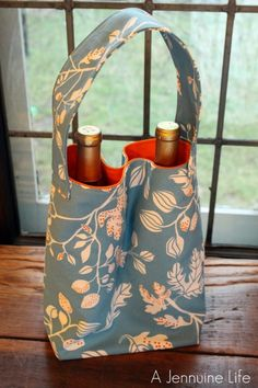 Fireflies and Jellybeans Double Wine Tote Pattern Giveway! | A Jennuine LifeA Jennuine Life