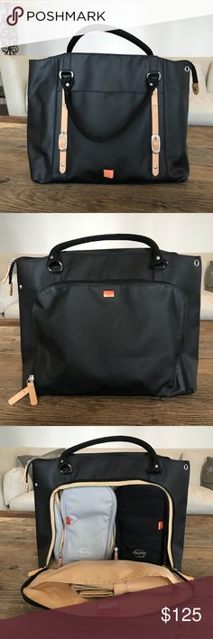 PacaPod Diaper Bag - NEW never used Black Mirano diaper bag by PacaPod  Ended up using another one and never ever used this one (Shoulder strap in pic but can only find one stroller strap) PacaPod Bags Baby Bags