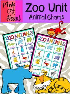 Zoo Unit - Animal Charts from kac2877 from kac2877 on TeachersNotebook.com (5 pages)  - PDF - 2 zoo animal charts - great resource tool!