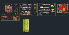 Plan Autocad dun hôpital DWG | Génie civil et Travaux Publics Engineering