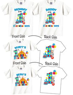 Mommy and Daddy of The Birthday Girl Carnival Theme Shirts and Tshirts cEbs3K