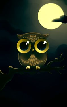 Owl I fell in love with this one Day 1 Day 2 Animal A Day 3 Cute Owls Wallpaper, Cute Wallpaper Backgrounds, Cute Cartoon Wallpapers, Cute Animal Drawings, Cute Drawings, Owl Artwork, Owl Illustration, Psy Art, Owl Pictures