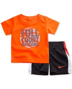 d041d4a9e1 Nike 2-Pc. Awesome-Print T-Shirt & Shorts Set, Baby Boys & Reviews - Sets &  Outfits - Kids - Macy's