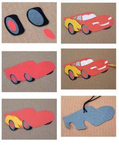 CARS 2 Crafts: DIY Lightening McQueen Air Freshener