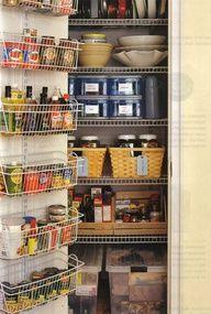 Organizing small pantry